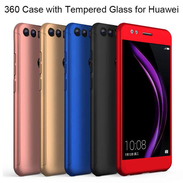 360 Tempered Glass Case for Honor 7A 7C 6C Pro 5X 6X 7X Case for Huawei Y5 Y6 Y7 Prime 2018 Y9 P Smart Case on Honor 10 8 9 Lite