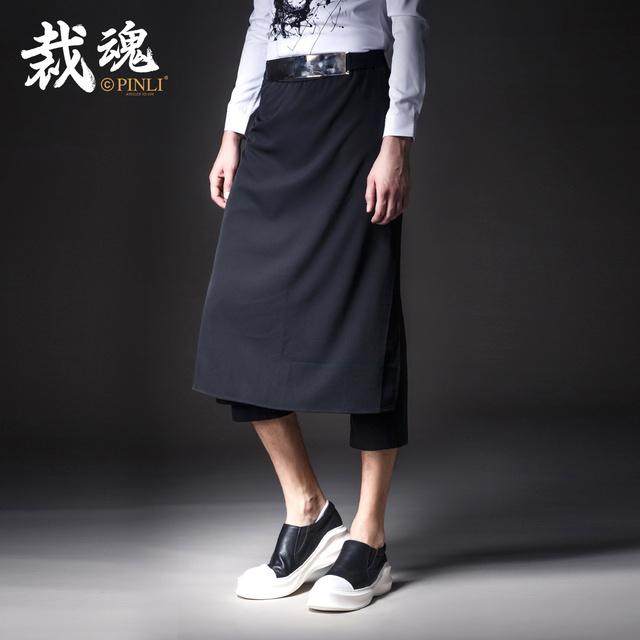 2016-Tempo limitado Oferta Especial de Fibra de Bambu Magro Militar K041 Instalado Nove Calças Pinli Outono dos homens Masculinos Casuais saia