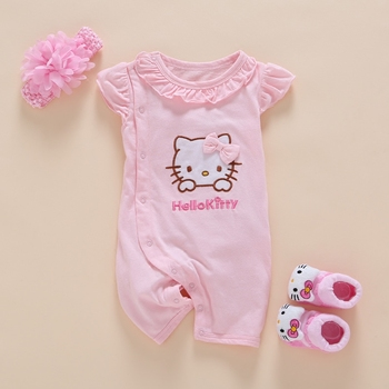 2017 Summer Style Baby Rompers Girls Clothes Cotton Cute Romper Newborn Jumpsuits Ropa Bebes Boy Clothing Character Short