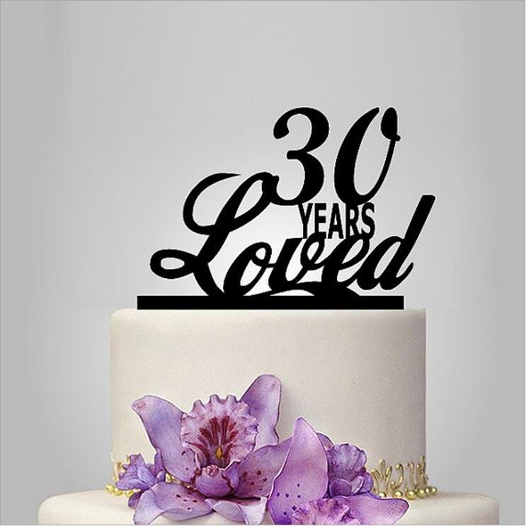 30th Birthday Cake Topper,Happy 30th,acrylic Cake Topper