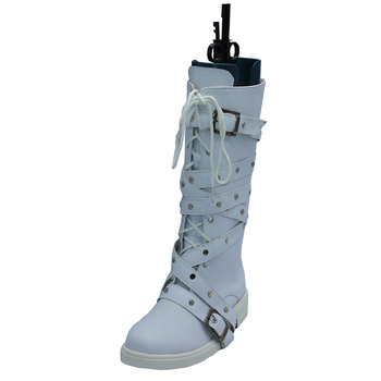 Brdwn Drag on Dragoon Men's DUCAN cosplay Middle calf punk boots custom white Flat Shoes image