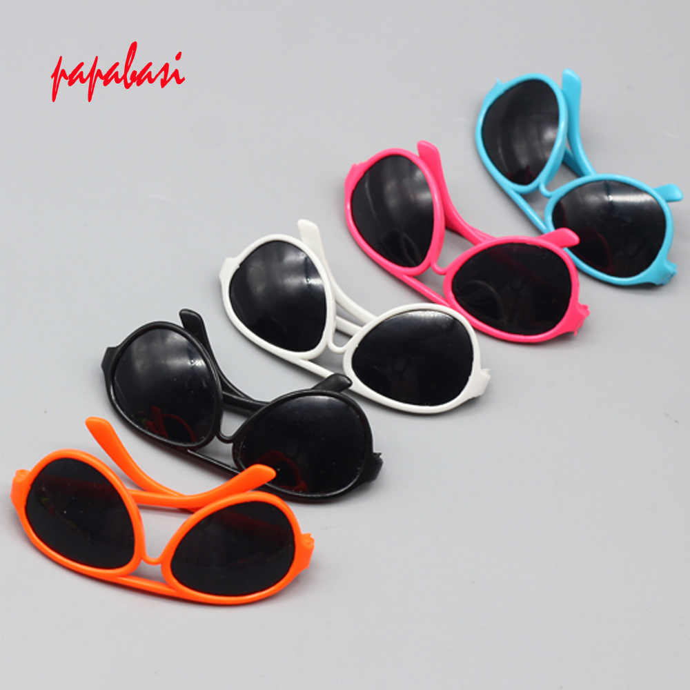 1PCS round-shaped Round glasses glasses suitable for 18 inch American girl doll as for BJD Blyth dolls Mini sunglasses handmade chinese ancient doll tang beauty princess pingyang 1 6 bjd dolls 12 jointed doll toy for girl christmas gift brinquedo