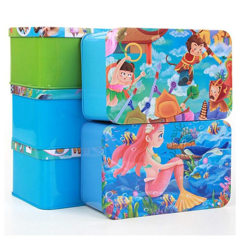 200pcs / box crtani 3D Puzzle s Iron Box za djecu slagalica Box Rani - Igre i zagonetke - Foto 2
