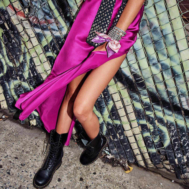 NiceMix атласная бретельках летнее платье Высокая Талия Разделение сексуальный v-образный вырез пляжное платье женский, Черный Макси Вечерние Длинное платье Vestidos