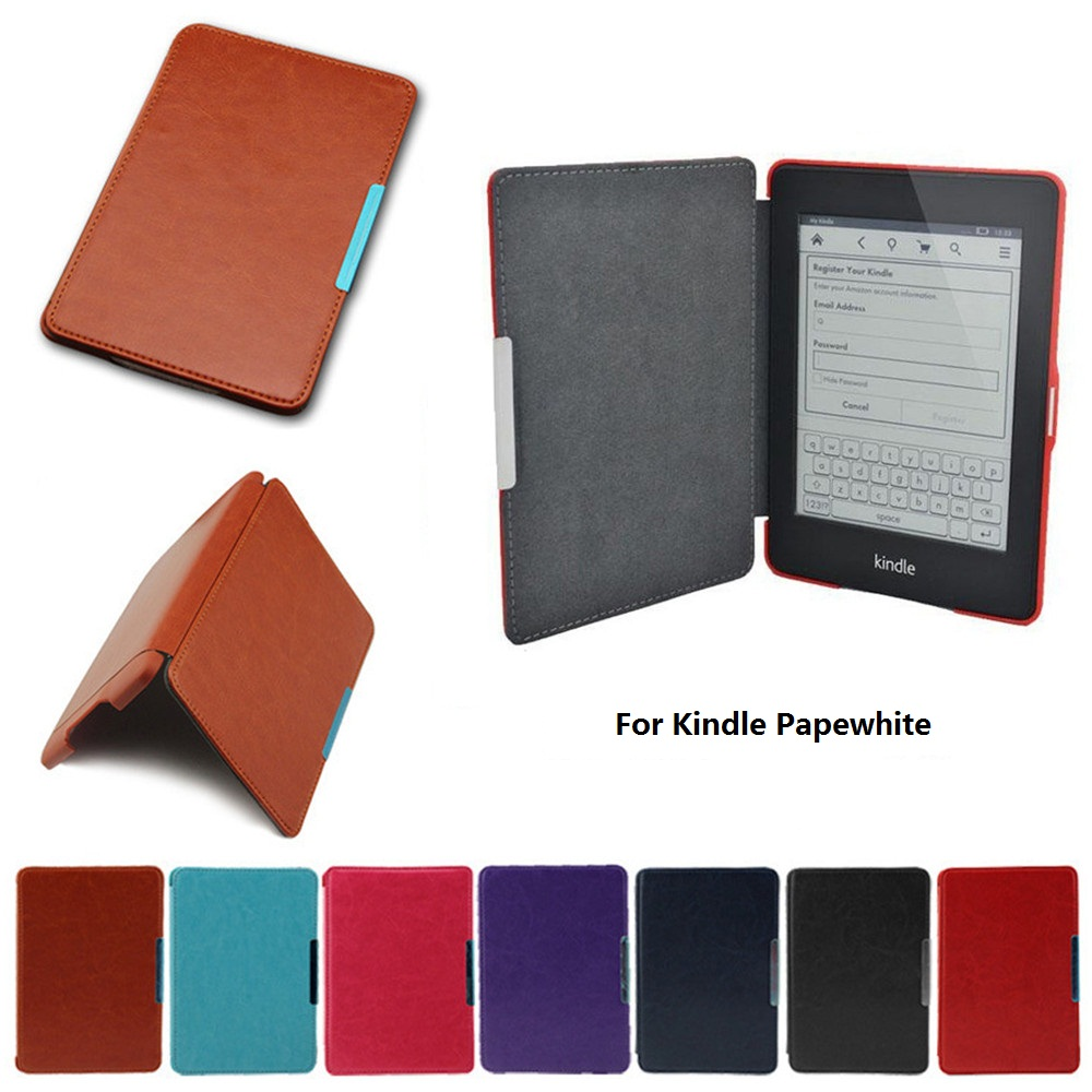 Hard Leather Cover Case for Amazon Kindle Paperwhite 1 2 3