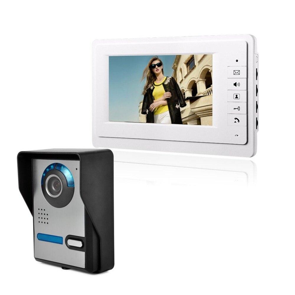 Sans fil Vidéo Porte Téléphone Système D'interphone Doorbel Vision Nocturne Imperméable À L'eau Caméra avec Housse De Pluie