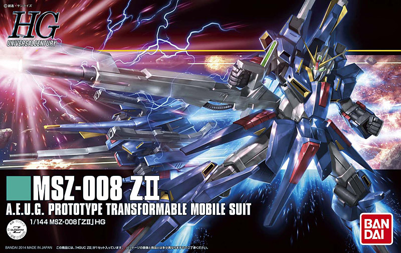 1PCS Bandai 1/144 HGUC 186 MSZ-008 Z II ZII Z2 Mobile Suit Assembly Model Kits lbx toys education toys цена