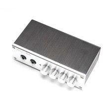 KYYSLB Home Audio op amp NE5532 Vorverstärker OF1 TP2399 HD Digital verstärker Karaoke Bord Pre ebene mit Mikrofon eingang