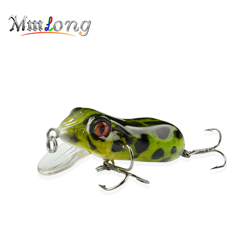 "2.5/"" Crankbait Fishing Lure 10g Realistic Hard Frog Fish Bait Fishing Tackle"