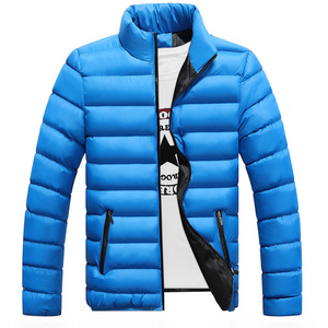 Image 3 - VISADA JAUNA 2019 남성 다운 코튼 자켓 코트 솔리드 컬러 브랜드 와일드 패딩 가을 겨울 남성 패션 빅 사이즈 6XL N5107