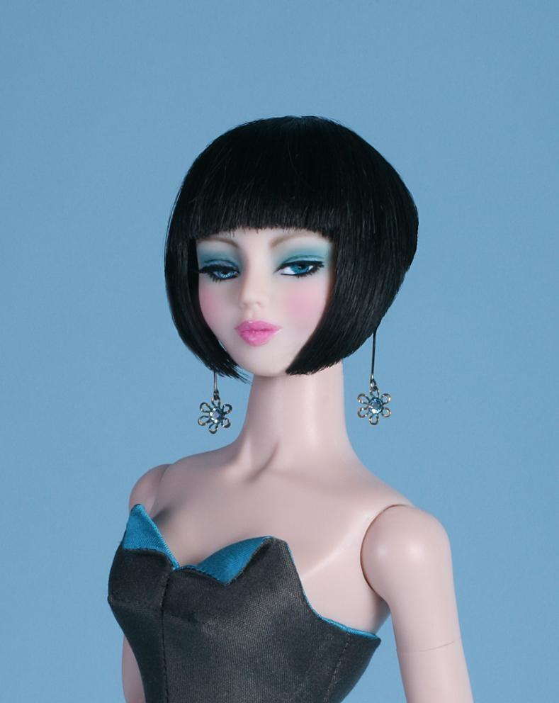 Wholesale 1/6 BJD doll wigs  Lati Green  synthetic mohair wigs  6-7inch Yosd  doll short cut wig