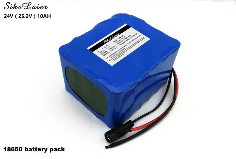 24 V 10 Ah 6S5P 18650 batterie au Lithium 24 V vélo électrique cyclomoteur/électrique/Li-ion batterie + 25.2 V 2A chargeur de batterie