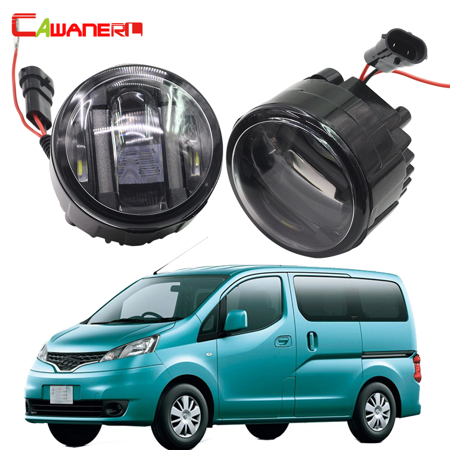 Cawanerl Car Styling LED Fog Light DRL Daytime Running Lamp 2 Pieces For Nissan NV200 M20 M20M 2010 Onwards