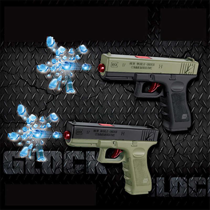 2 шт./компл. пластмассы игрушечный пистолет Glock гель мяч пистолет винтовка воды из бисера оружие на открытом воздухе спортивные игры, игрушки для детей, подарки