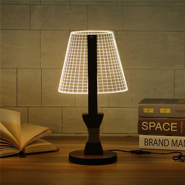 Acryl UNS Stecken Dimmbar 3D LED Tischleuchte Schreibtisch Lesen  Tischlampen Für Schlafzimmer Wohnzimmer AC110 220V