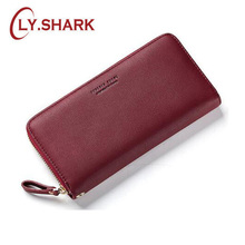 LY.SHARK PU Long Wallet Geometric Nature Stone For Women Burgundy Many Departments Womens Wallets Brand Designer