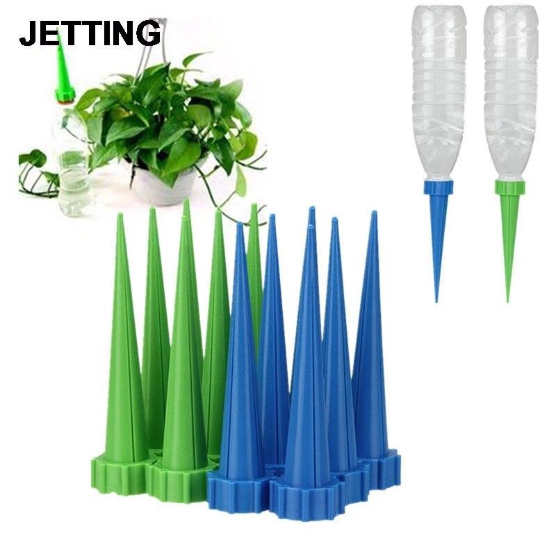 Yeni gelmesi otomatik bahçe koni sulama başak bitki çiçek sulama şişe sulama sistemi rastgele renkler 13.5*3cm title=