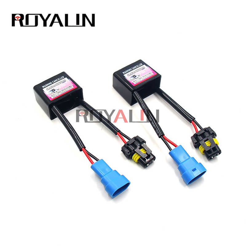 ROYALIN C6 Canbus 9-16V Wiring Harness Xenon HID Error Free Warning Canceller H1 H7 H11 9004 9005 Capacitor Decode Device