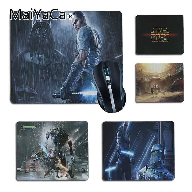 MaiYaCa Звездные войны Force Unleashed геймер Скорость мыши розничной маленький резиновый коврик Размеры для 25X29 см 18x22 см игровые коврики ...