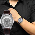 SmileOMG Hot Watch Fashion New Men Leather Stainless Steel Dial Quartz Wrist Watch Free Shipping Christmas Gift,Aug 5