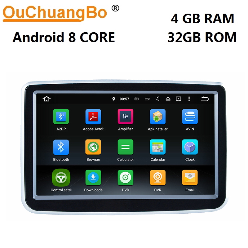 Ouchuangbo android 8.0 car radio recorder gps navigation for Benz B CLA GLA 2014.11 2018 with mp3 player 8 core 4GB+32GB