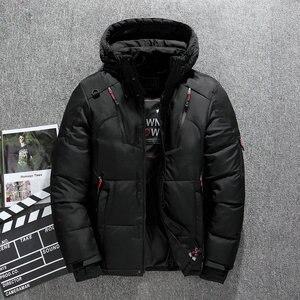 Image 4 - Di spessore Caldo Cappotto di Inverno Degli Uomini Con Cappuccio casual Man Outdoor Imbottiture Giacca Parka di Modo Giacca A Vento Cappotto Uomo