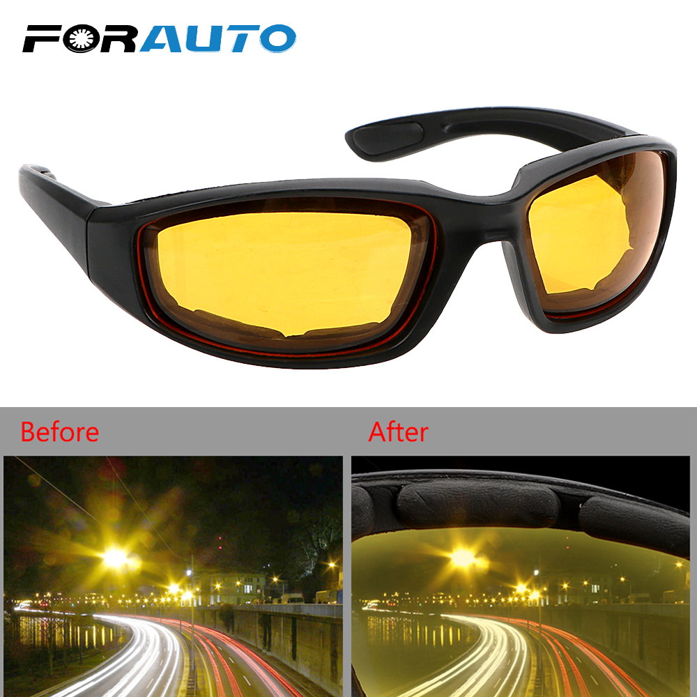 Car Night-Vision Glasse Night Vision Drivers Goggles Motocross Goggles UV Protection Anti-glare Protective Gears Sunglasses