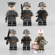 WW2 Military Army Soldier Figures Building Blocks German Medic Parts Weapon Helmet  Accessories Bricks Toy for Children