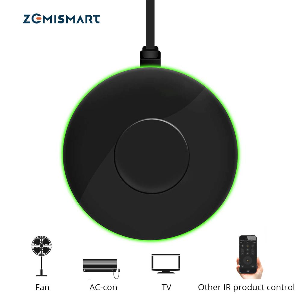 Zemismart Tuya Ponte IR Controle do Ventilador Ar Condicionado TV Para A Vida Inteligente App Google Casa Alexa Echo Controle Remoto Universal AC
