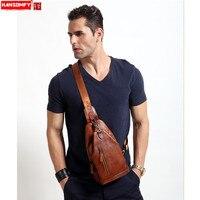 HANSOMFY натуральная кожа груди сумка мужская Замша Сумка женская повседневная сумка messenger грудь небольшая ретро сумки