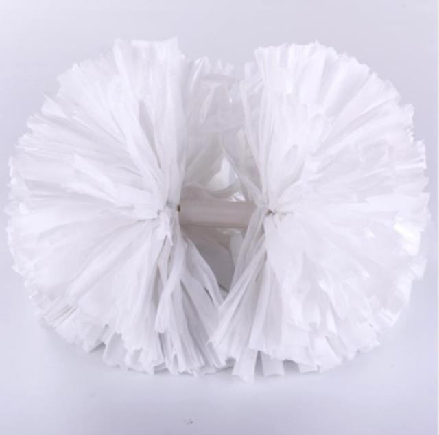 White Handle Small cheer pom poms 5c64fbbde3f95