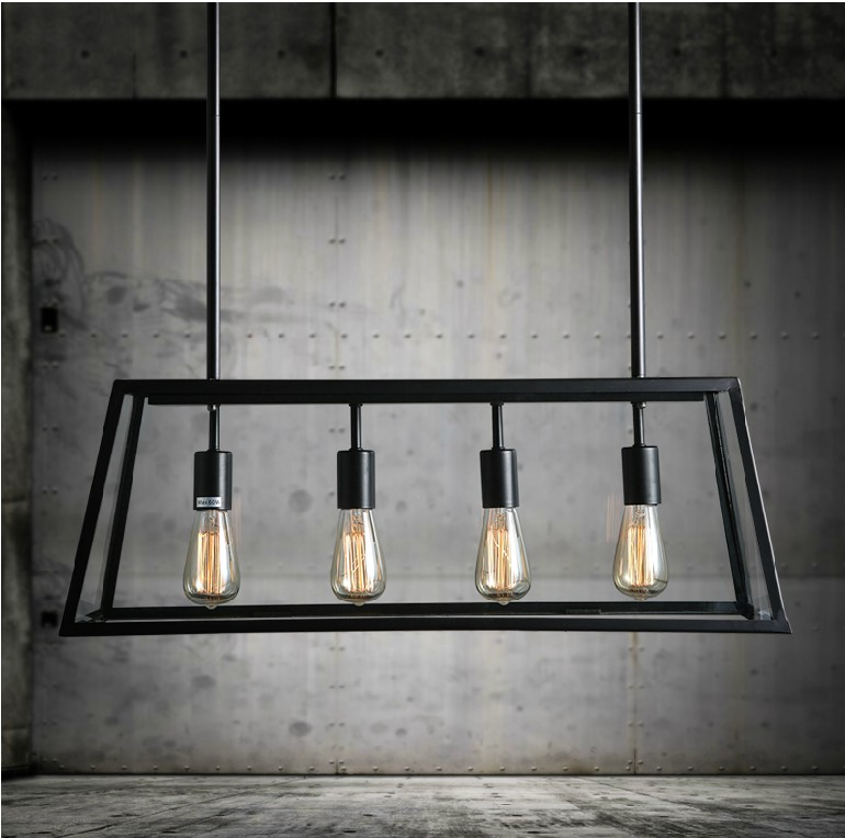 2f62656309 black vintage industrial pendant light loft style lights Creative Nordic  retro lamp Spider edison dining living room lamps-in Pendant Lights from  Lights ...