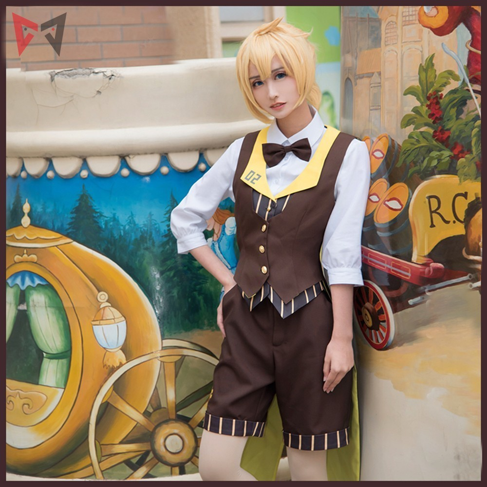 MMGG VOCALOID Kagamine Ren Coffee younger Cosplay and costumes Shirt Loose coat shorts