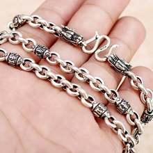 Ожерелье из серебра 100% пробы в виде тибетского пословицы с