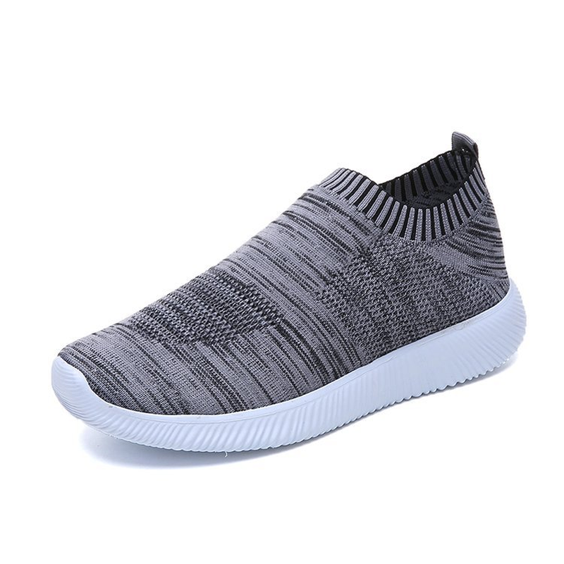 Women Shoes Flats Fashion Stretch Fabric Loafers Sneakers Women Breathable Casual Shoes Woman Low-cut Slip-On Plus Size 35-43