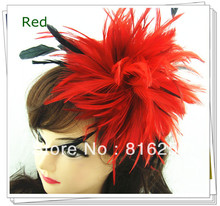 Women party hat 6 color high quality mini top feather fascinator hats bridal hair accessoires Great