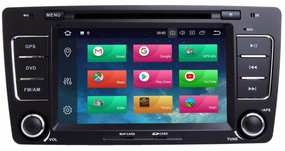 IPS DSP Android 8.0 4g/android 7.1 2 DIN AUTO Multimedia DVD Radio LETTORE DVD Per Skoda Octavia 2012 2013 A 5 A5 Yeti Fabia DAB