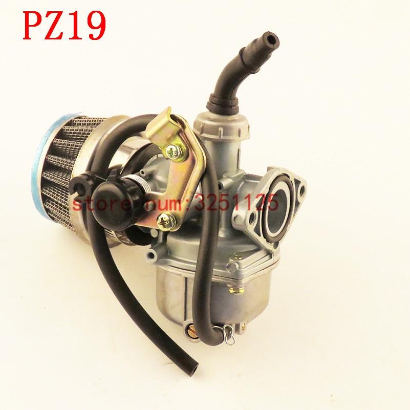 ATV Quad Go-kart Carburetor PZ19 Air Filter Cable Choke Chinese 90cc 110cc 125cc