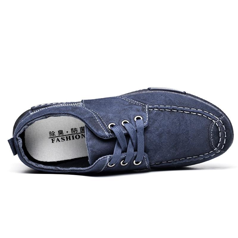 YeddaMavis Sneakers Men Shoes Canvas Shoes Denim Lace Up Men Casual Shoes Man 2019 Spring Plimsolls Breathable Male Shoes Men in Men 39 s Casual Shoes from Shoes
