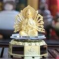 Artículos de Equipamiento Del Coche Solar Coche Emblema de Aleación de Alto Grado Avalokitesvara/buda/dios de la Riqueza/Barco Del Dragón Budista artesanías