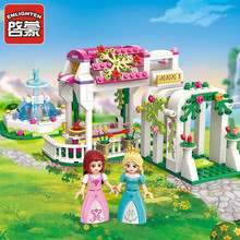 ENLIGHTEN Girls Princess Rose Dream Gallery Garden Building Blocks Sets Bricks Model Kids Gift Toys  Friends 151pcs electric tank engine thomas and friends trains new sets model building blocks bricks railway toy boys kids assembly toys