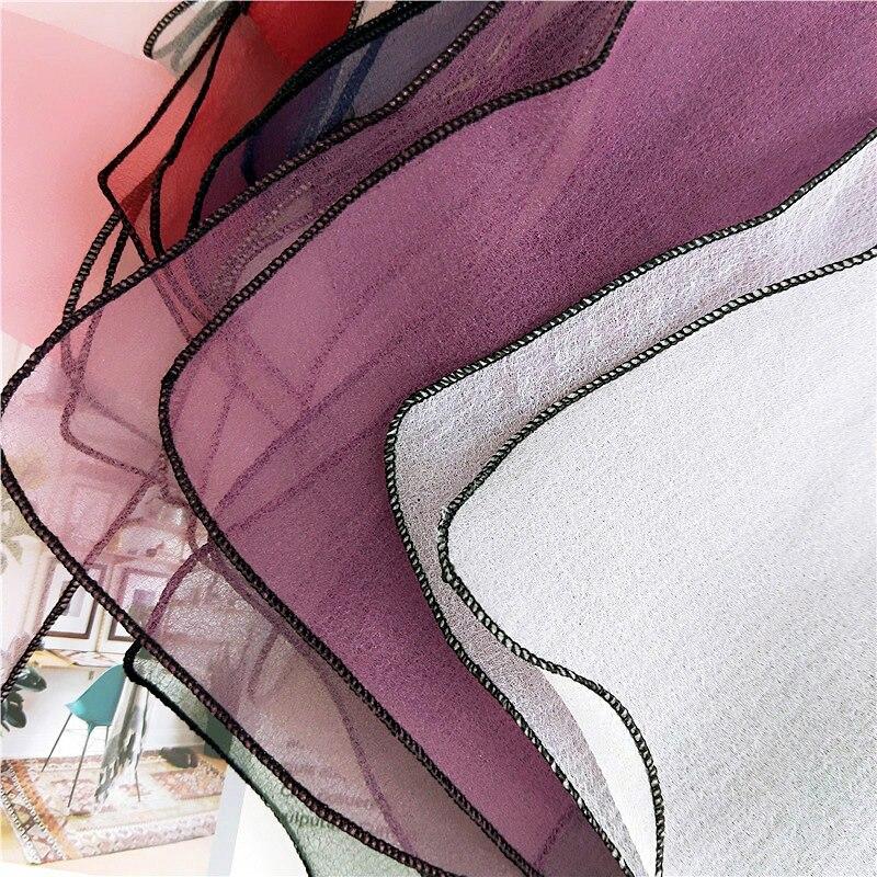 El nuevo organza de color sólido pequeño párrafo corto pañuelo - Accesorios para la ropa - foto 4