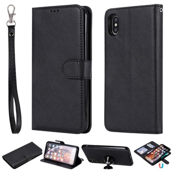 iPhone XS Max Black Leather Case