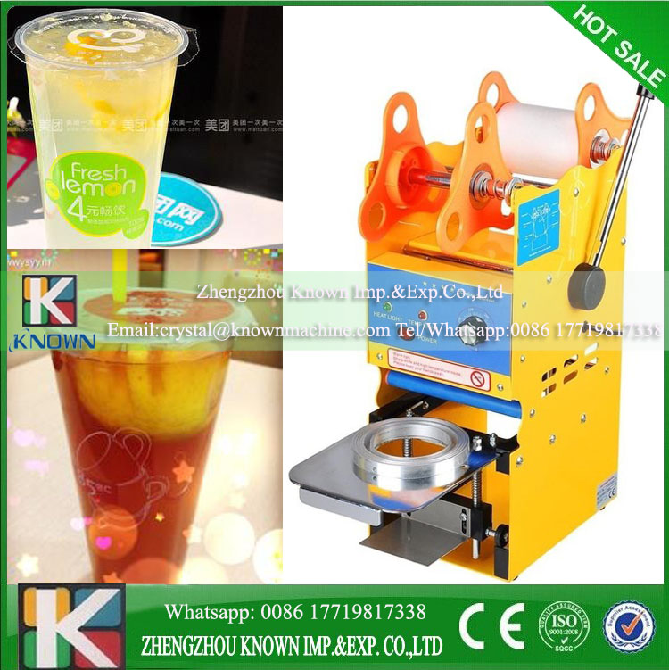 1PC 220V 350W Digital Manual Cup sealing machine Manual Cup sealer Digital Bubble tea machine for 7.5/9.5cm Bubble tea cup digital design manual