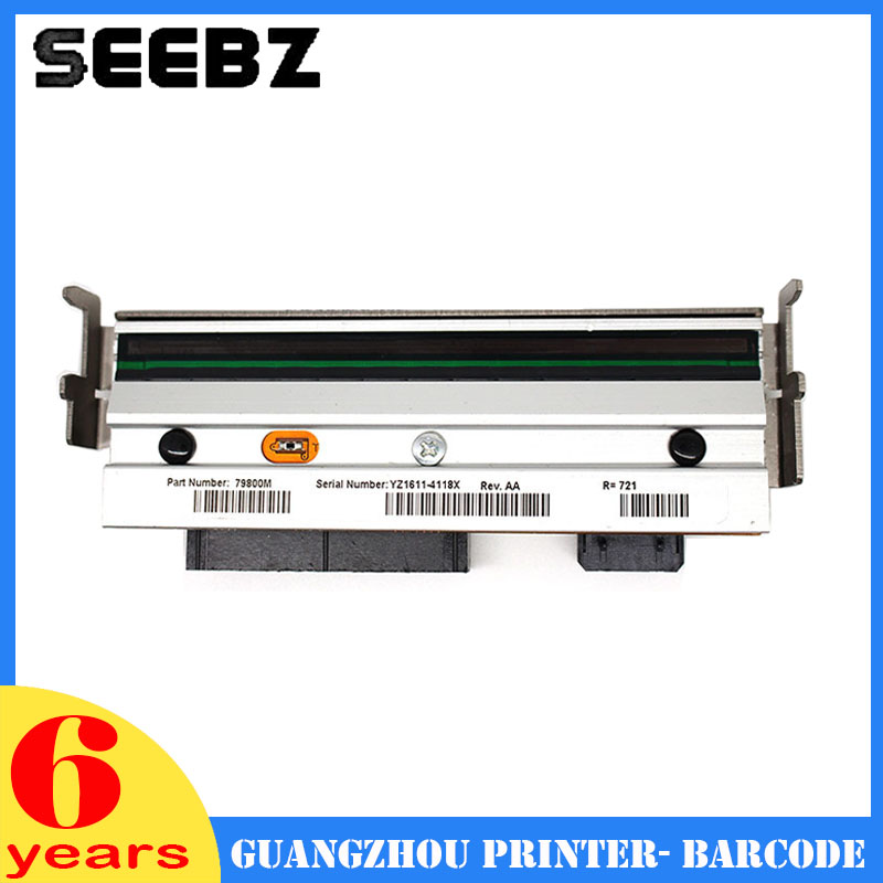 SEEBZ Printer Supplies 79800M New Compatible 203DPI Thermal Print Head Barcode Label Printhead For Zebra ZM400 A+ Quality new thermal print head printhead compatible for datamax i4206 i4208 i 4206 i 4208 thermal barcode printers 20 2181 01 203dpi