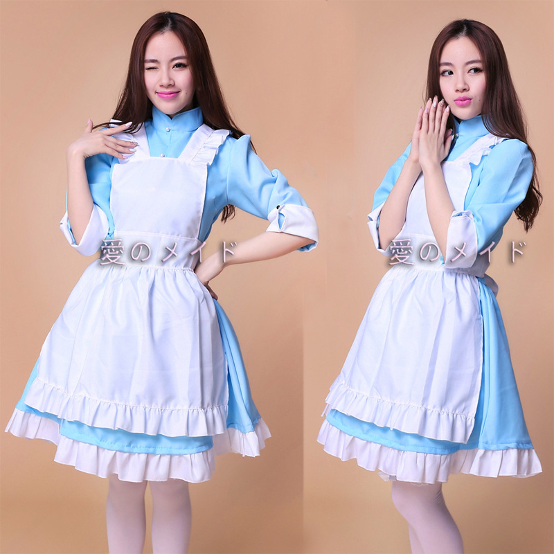 Halloween M-XL Costumes Womens Adult Alice in Wonderland costume DS Maids  role-palying party sexy Dress Cosplay Women