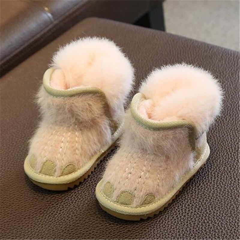 ba69dee8c0a ... Купить Новые Детские ботильоны для маленьких мальчиков и девочек зимние  сапоги обувь для детей малышей теплая детская обувь зимняя 03 Продажа  Дешево.