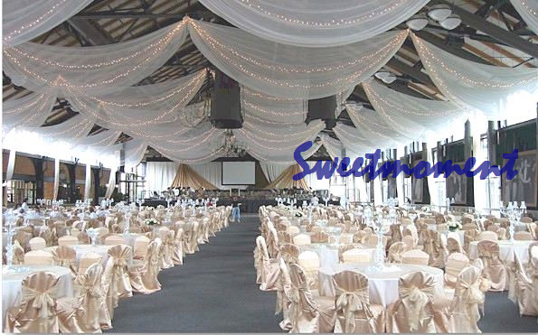 White Luxury Wedding roof Drape Canopy Drapery for decoration wedding fabric-in Party DIY Decorations from Home u0026 Garden on Aliexpress.com | Alibaba Group & White Luxury Wedding roof Drape Canopy Drapery for decoration ...