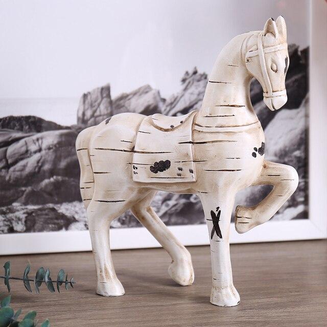 Resina trojan horse decoraci n caballo estatuilla Estatuas decoracion