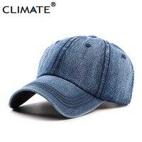 אקלים כובע כובעי בייסבול ג 'ינס הג' ינס מזדמן ללבוש מגניב גברים בלנק אופנה נשים גברים כובעי כובע מגניב כחול כהה אחת גודל מתכוונן